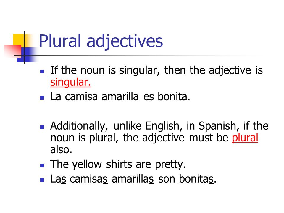 Gramática Noun Adjective Agreement In Spanish Ppt Video