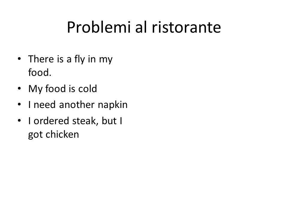 Problemi al ristorante