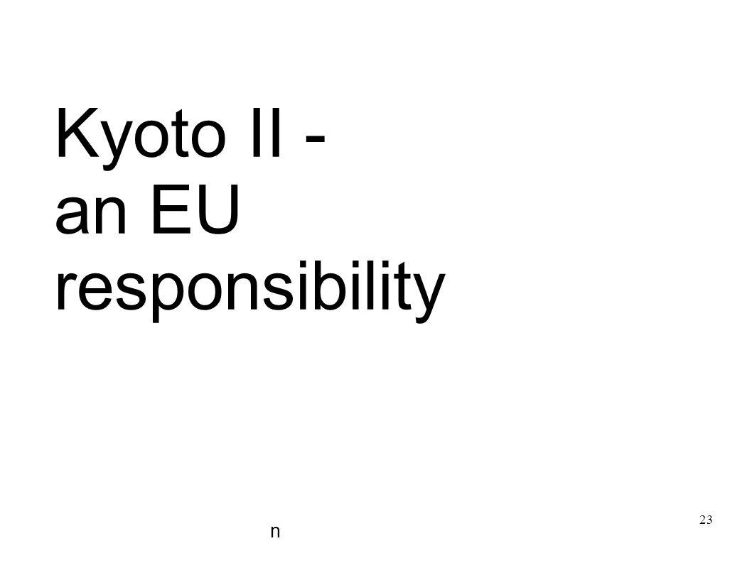 Kyoto II - an EU responsibility n