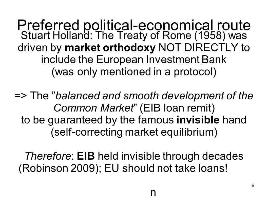 Preferred political-economical route
