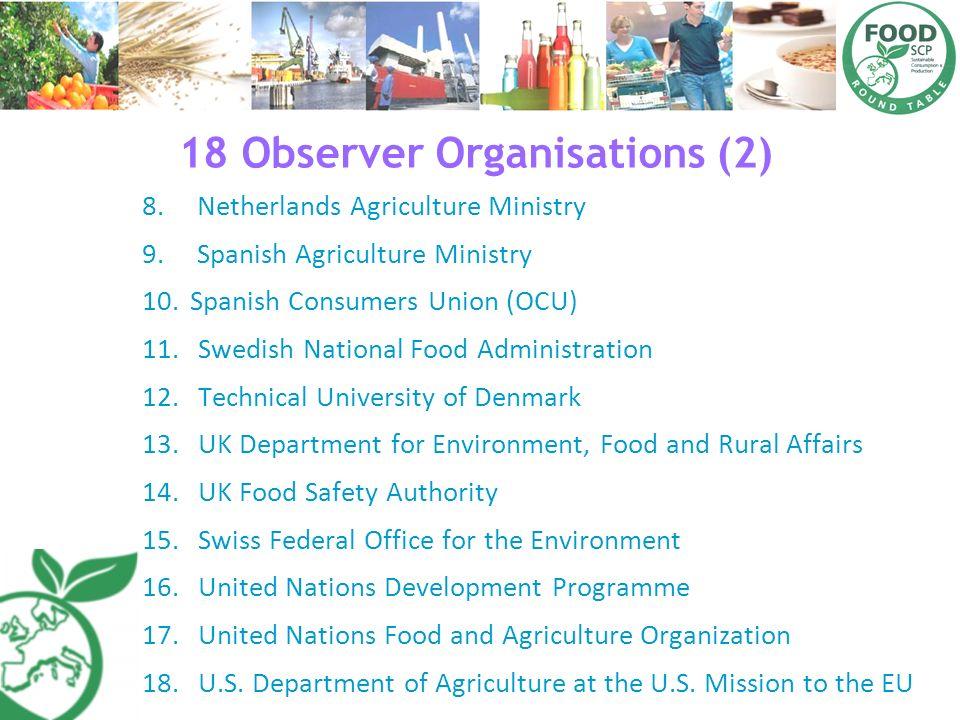 18 Observer Organisations (2)