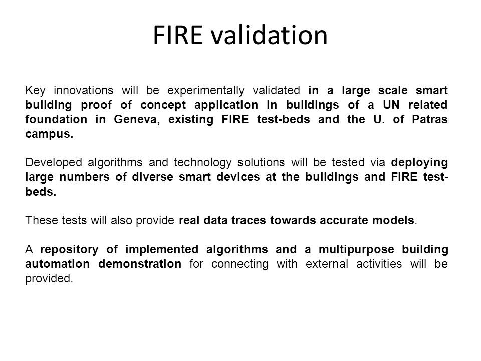 FIRE validation