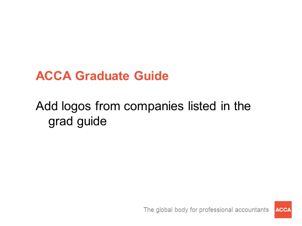 ACCA Graduate Guide Add logos from companies listed in the grad guide