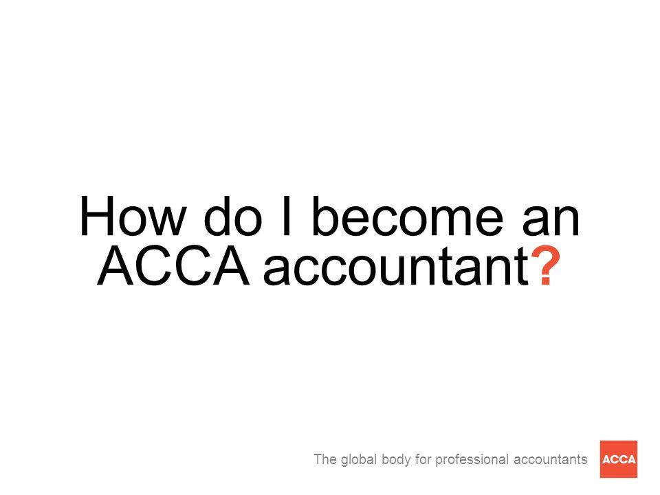 How do I become an ACCA accountant