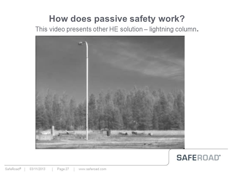 How does passive safety work