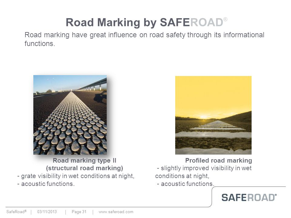 Road Marking by SAFEROAD®