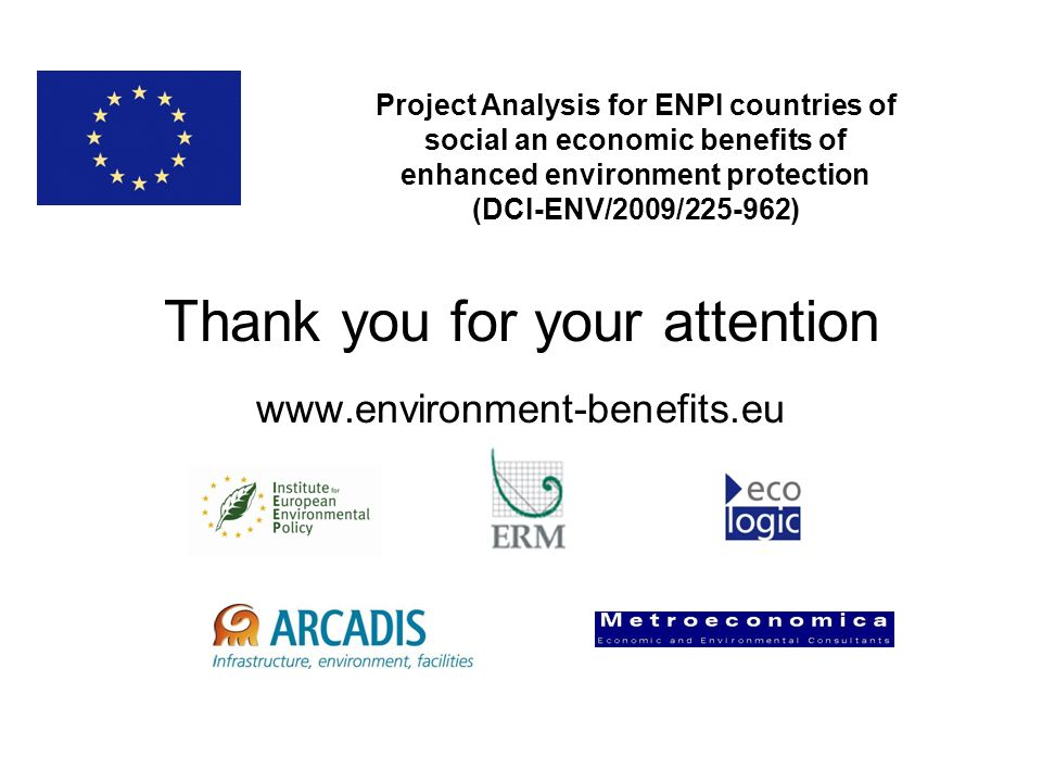 Thank you for your attention www.environment-benefits.eu