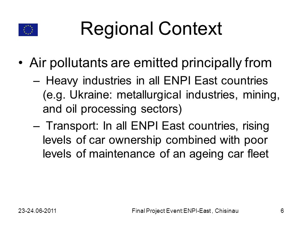 Final Project Event:ENPI-East , Chisinau