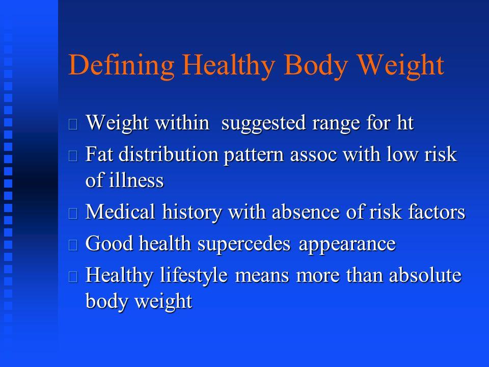 Defining Healthy Body Weight