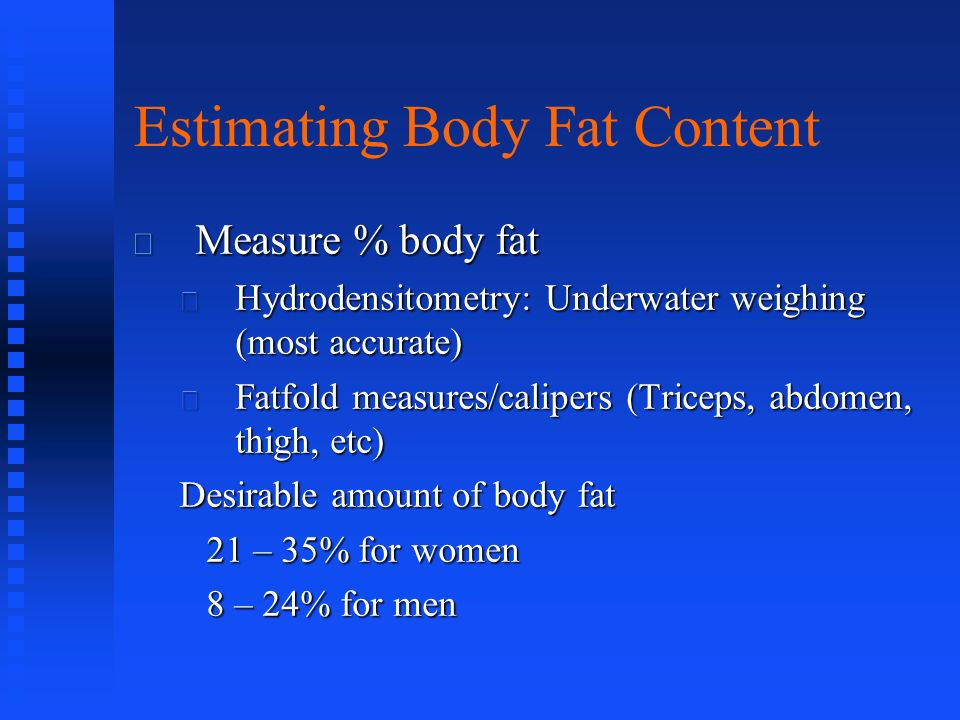 Estimating Body Fat Content