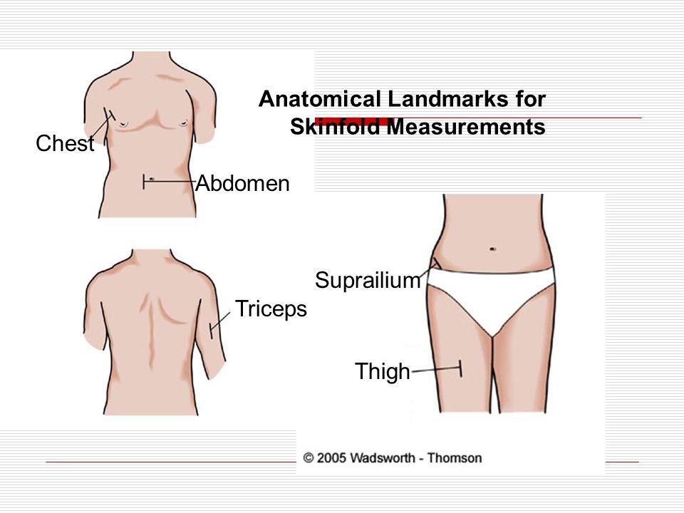 Anatomical Landmarks for Skinfold Measurements