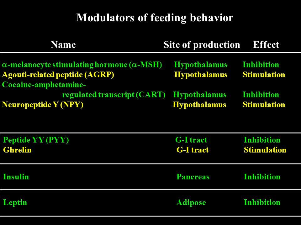 Modulators of feeding behavior