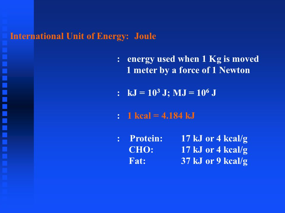International Unit of Energy: Joule