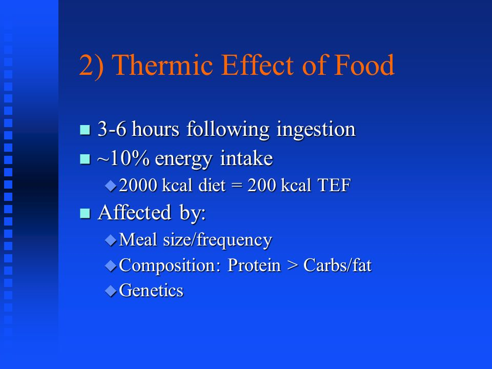 2) Thermic Effect of Food