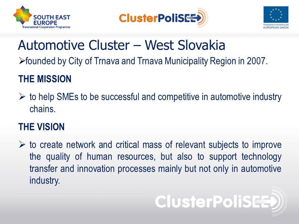 Automotive Cluster – West Slovakia
