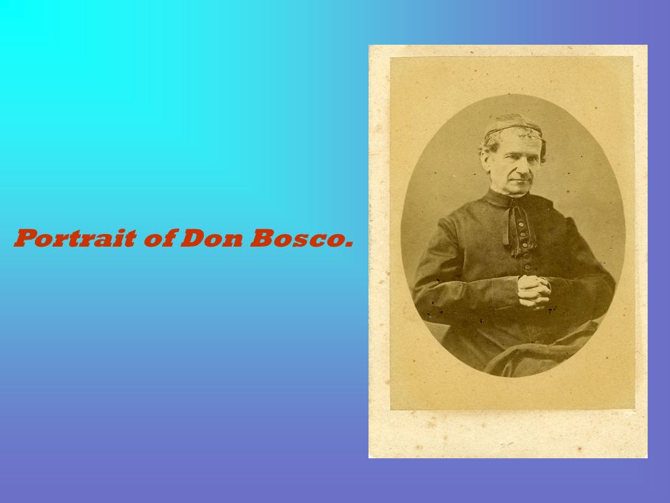 Portrait of Don Bosco.