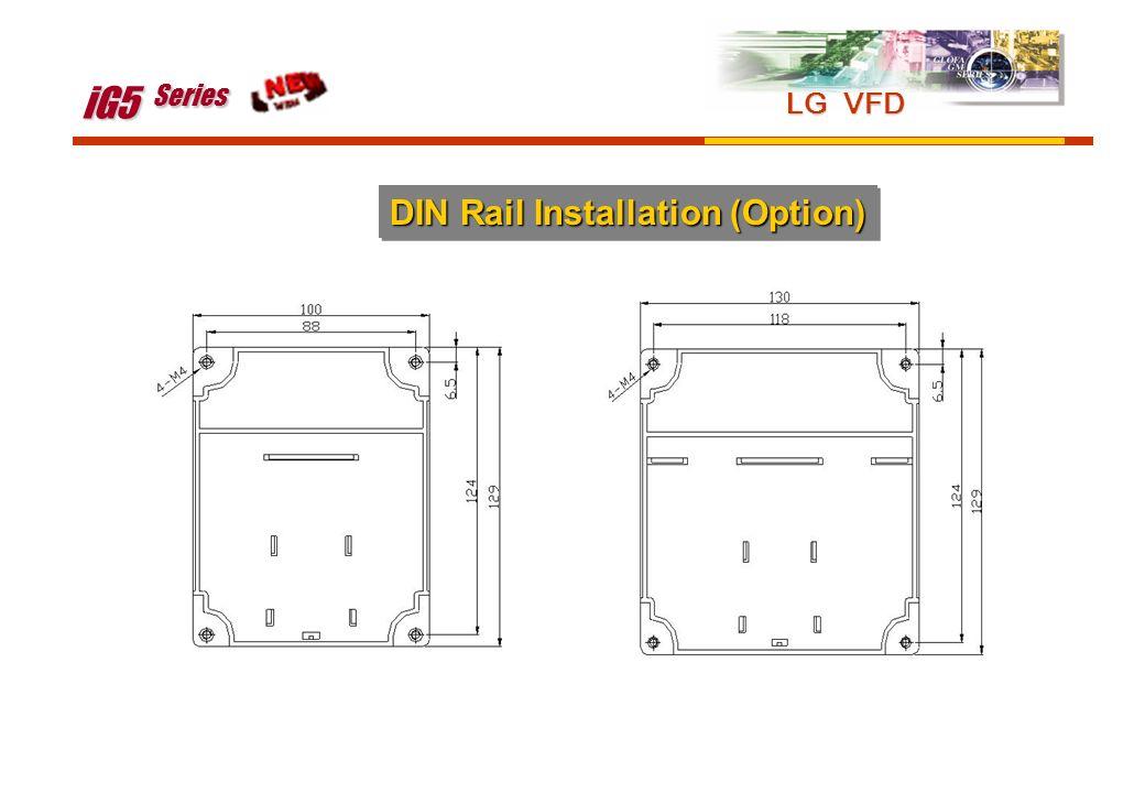 iG5 Series LG VFD DIN Rail Installation (Option)