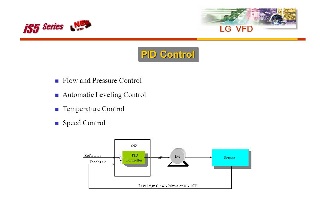 iS5 Series PID Control LG VFD Flow and Pressure Control