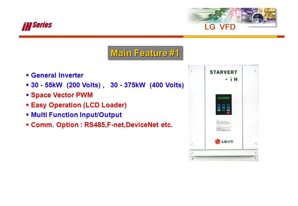 iH Series Main Feature #1 LG VFD General Inverter