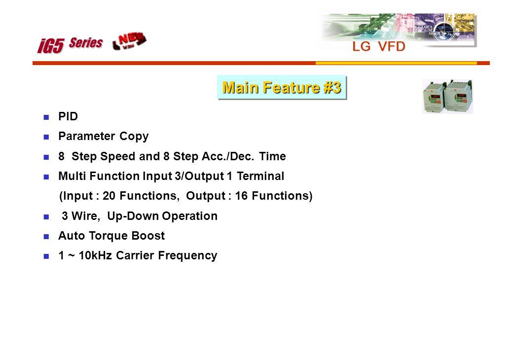 iG5 Series Main Feature #3 LG VFD PID Parameter Copy