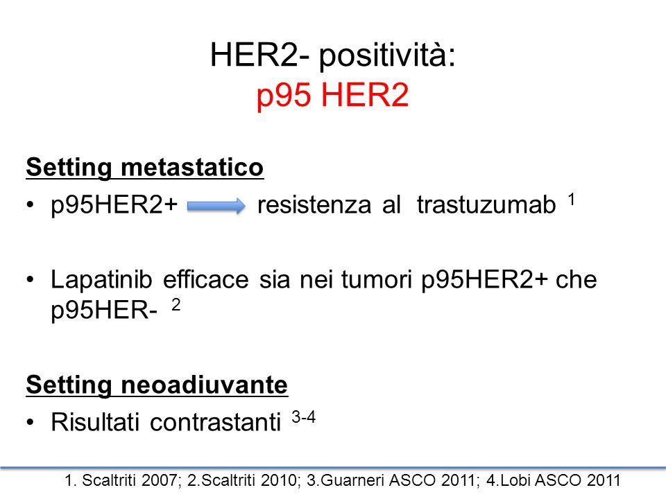 HER2- positività: p95 HER2 Setting metastatico