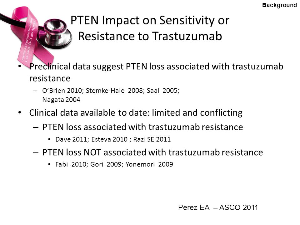 PTEN Impact on Sensitivity or Resistance to Trastuzumab