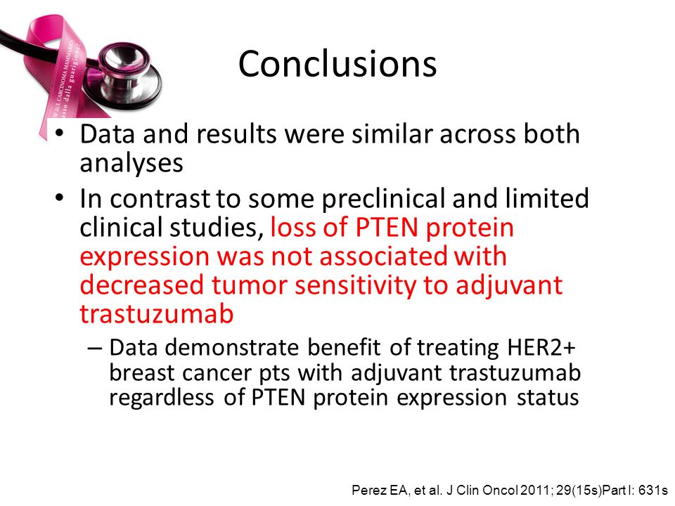 Conclusions Data and results were similar across both analyses
