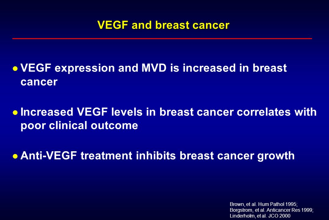 VEGF expression and MVD is increased in breast cancer