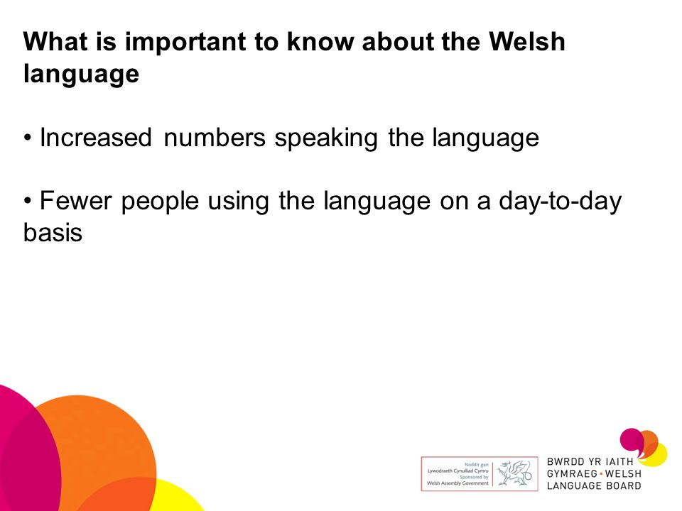 What is important to know about the Welsh language