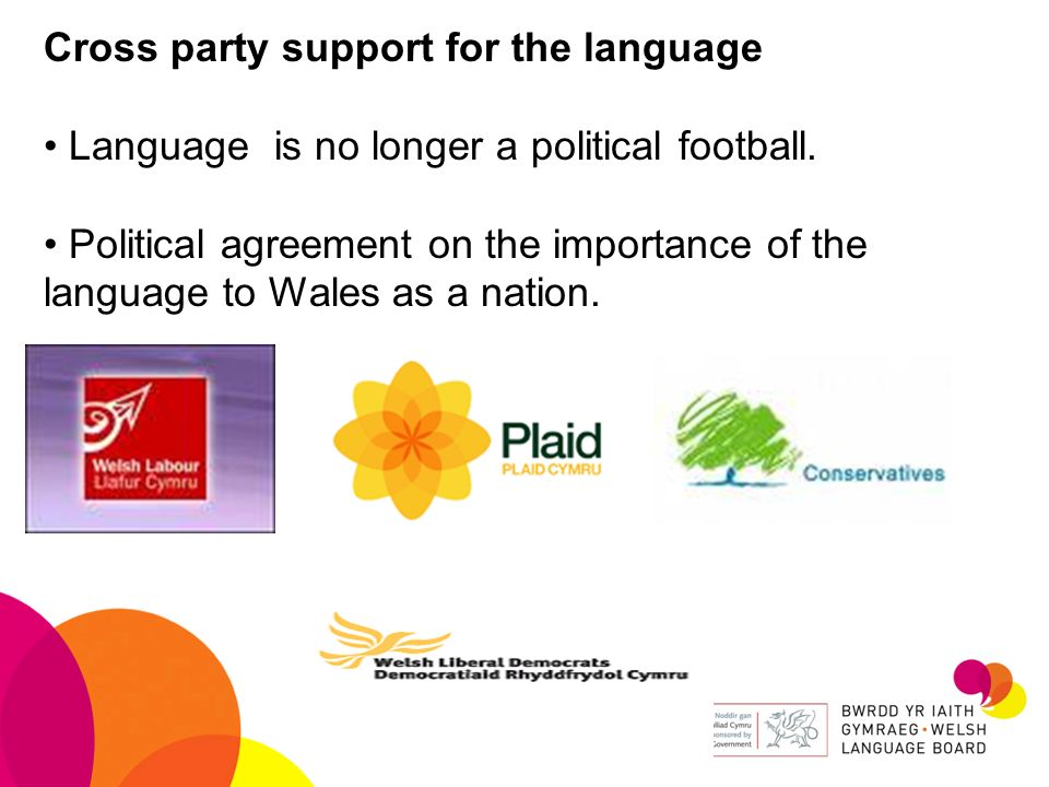 Cross party support for the language