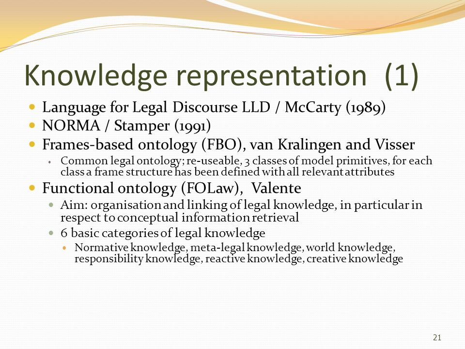 Knowledge representation (1)