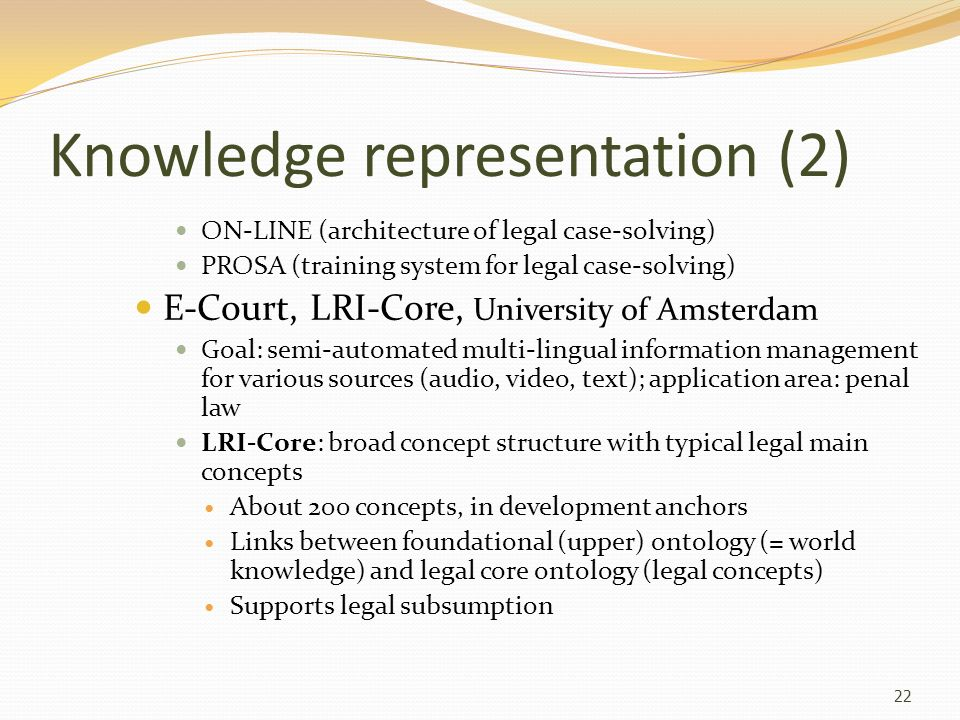 Knowledge representation (2)