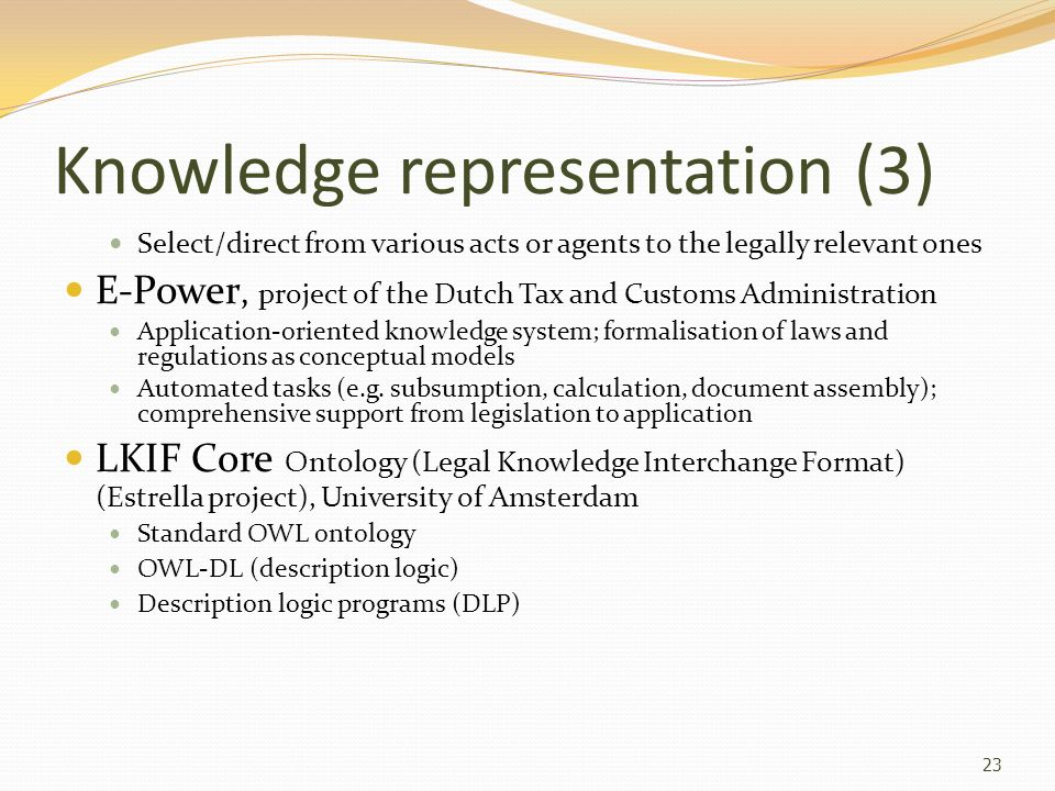 Knowledge representation (3)