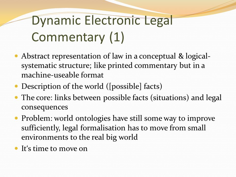 Dynamic Electronic Legal Commentary (1)