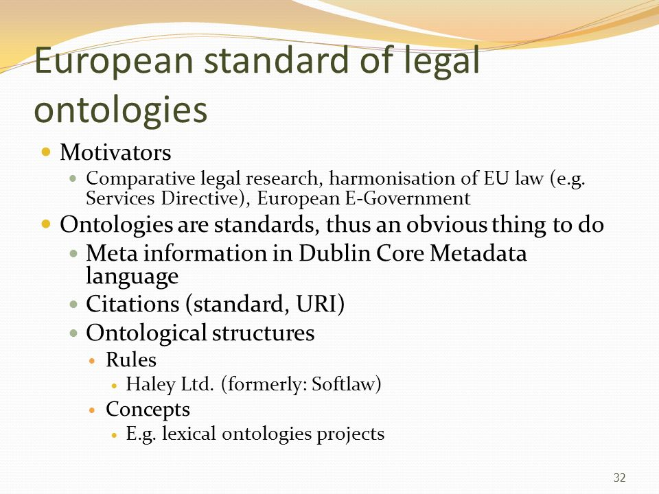 European standard of legal ontologies