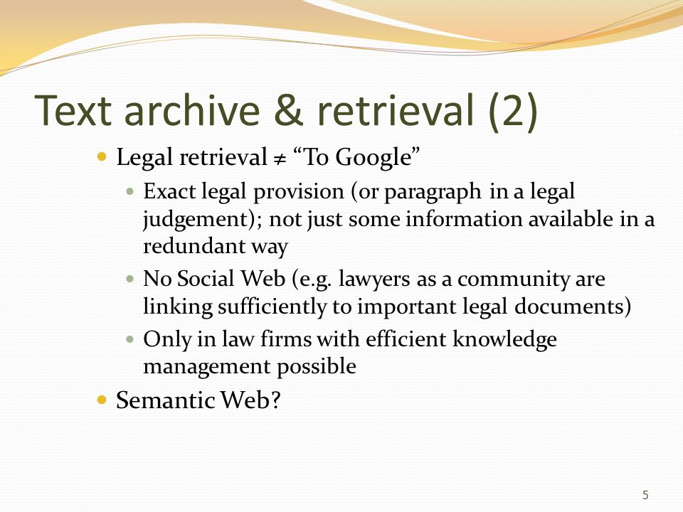 Text archive & retrieval (2)