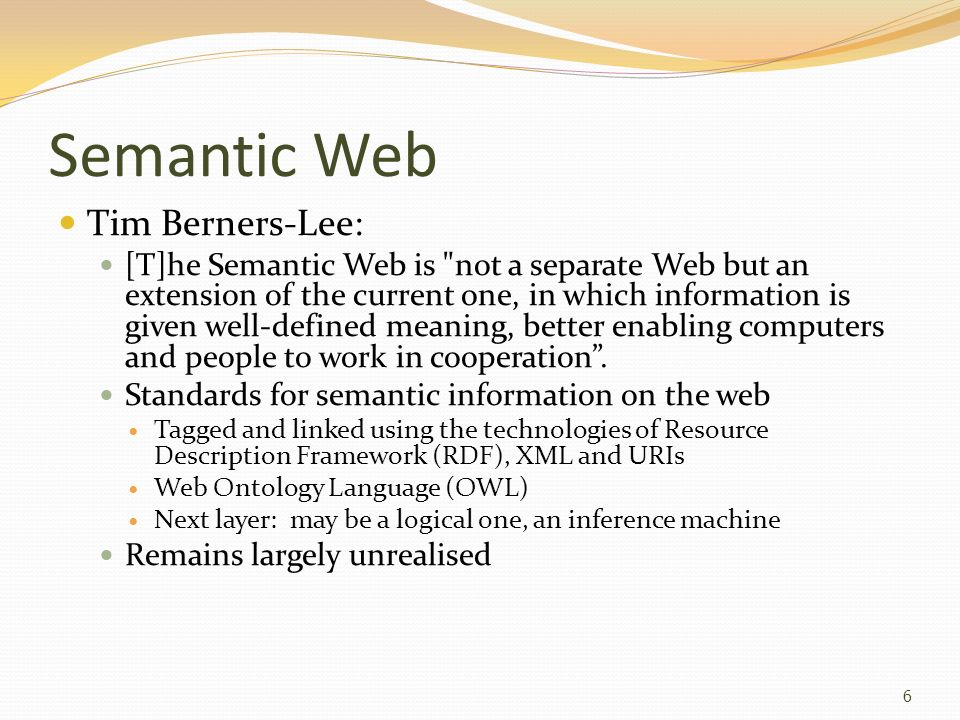 Semantic Web Tim Berners-Lee: