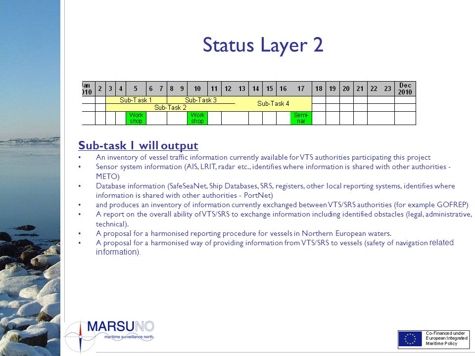 Status Layer 2 Sub-task 1 will output