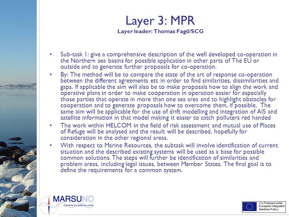 Layer 3: MPR Layer leader: Thomas Fagö/SCG