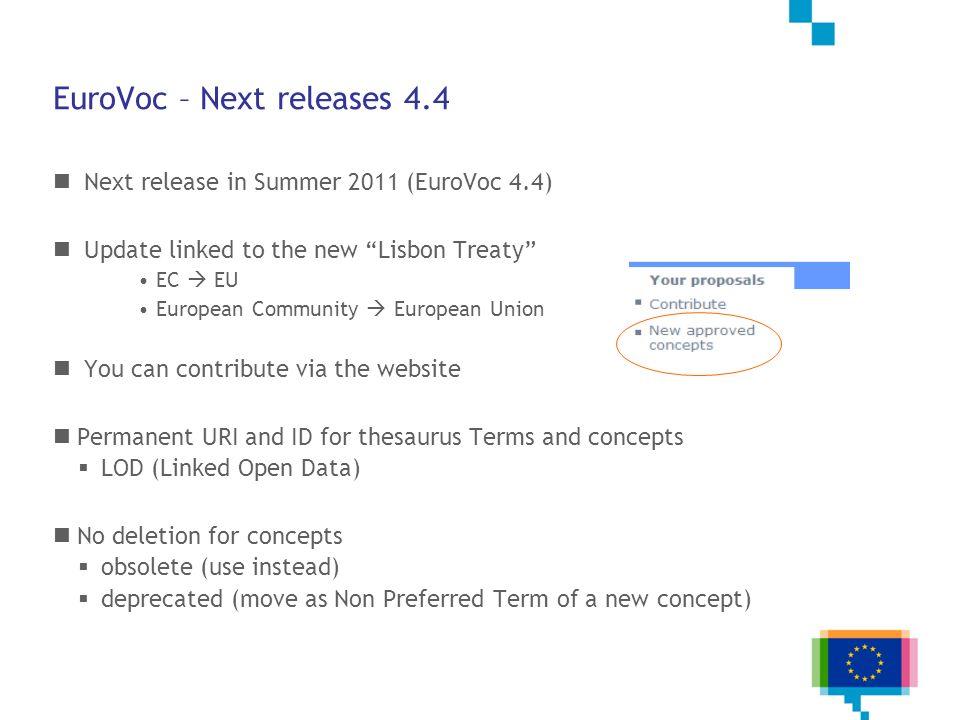 EuroVoc – Next releases 4.4
