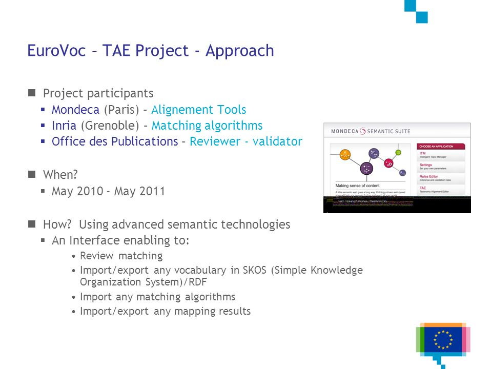 EuroVoc – TAE Project - Approach
