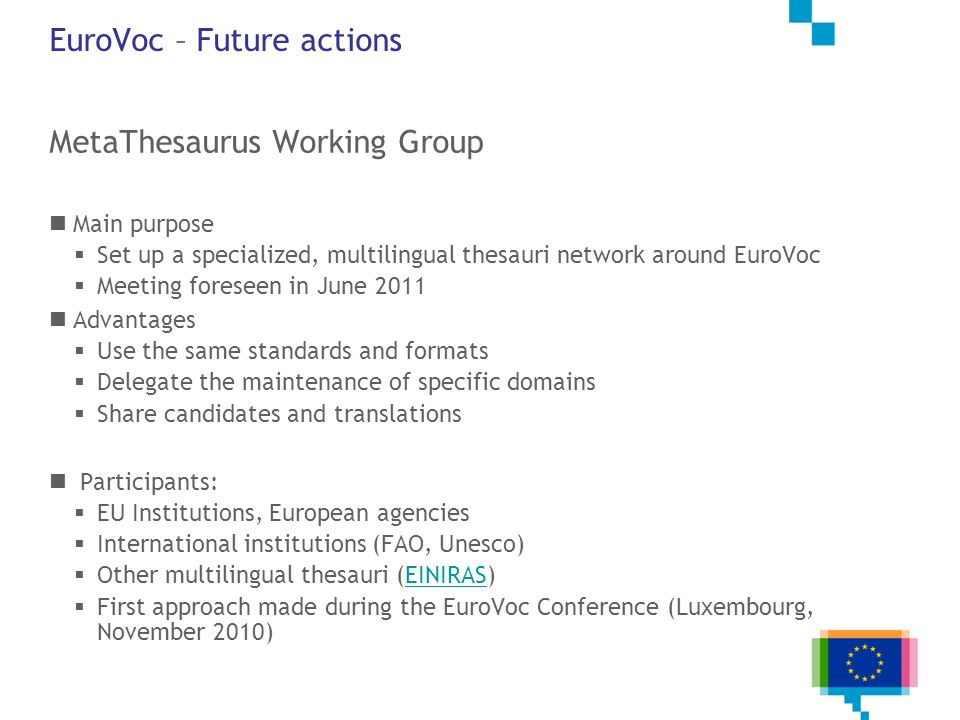EuroVoc – Future actions