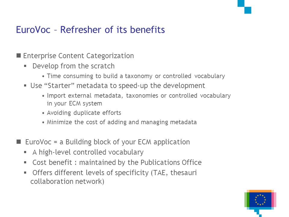 EuroVoc – Refresher of its benefits