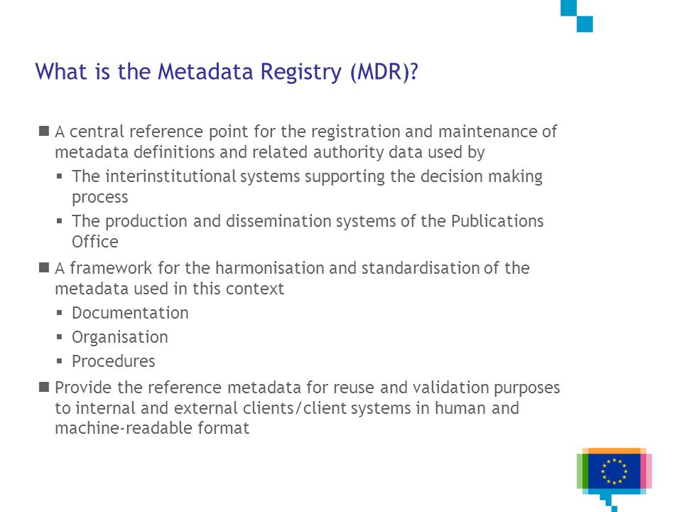 What is the Metadata Registry (MDR)