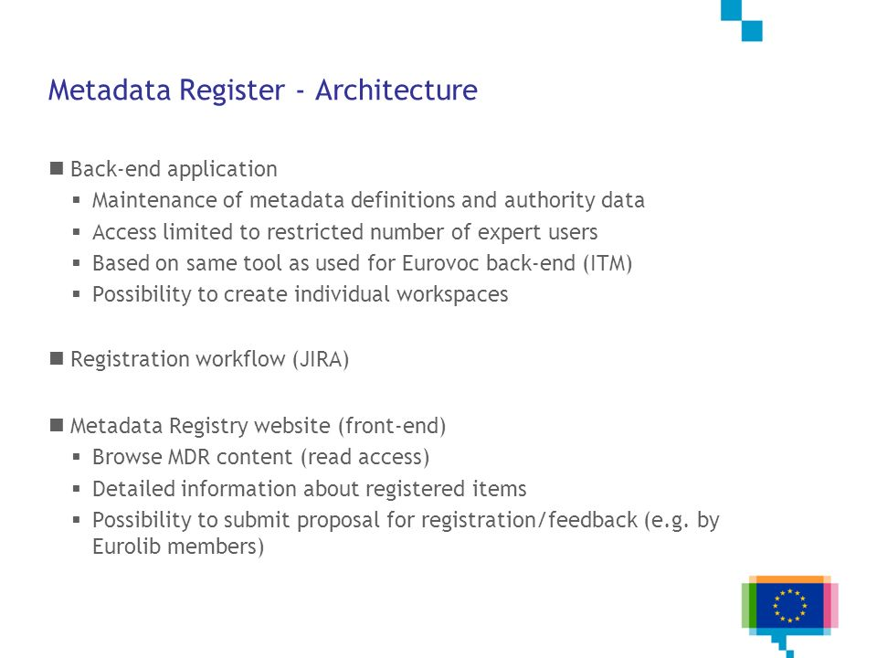 Metadata Register - Architecture