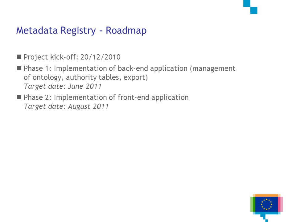 Metadata Registry - Roadmap