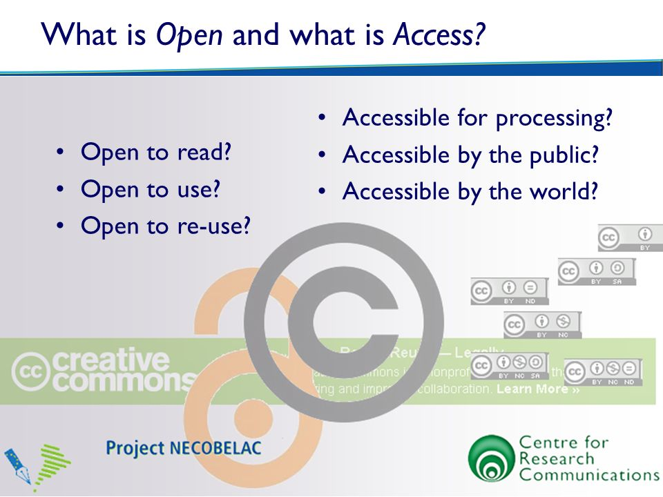What is Open and what is Access