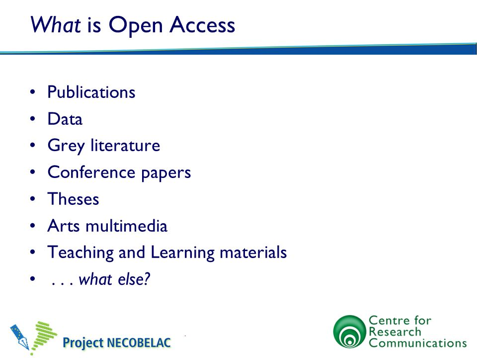 What is Open Access Publications Data Grey literature