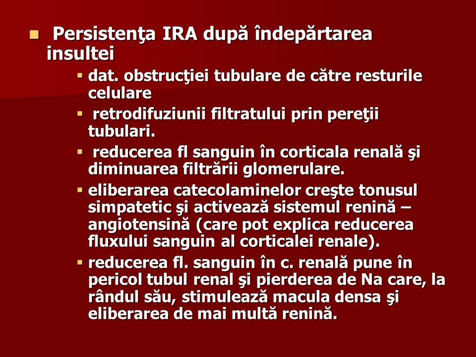Persistenţa IRA după îndepărtarea insultei