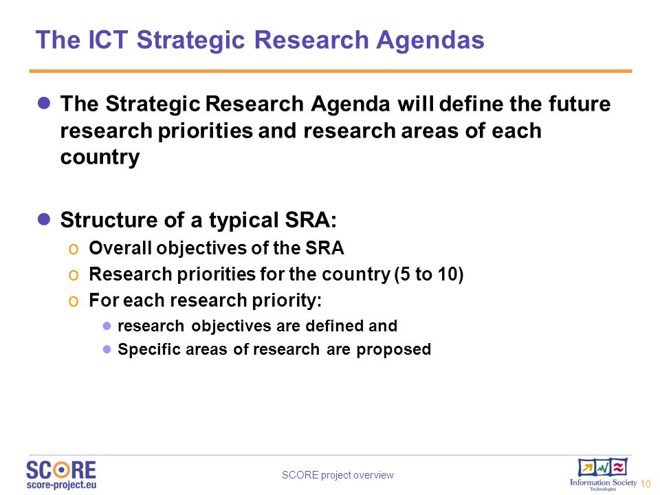 The ICT Strategic Research Agendas